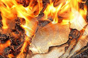 newspaper-burning