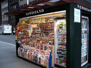 A traditional Newsstand