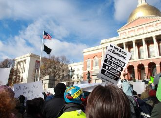 Massachusetts protesters rally against hate