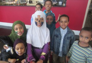 Somalian immigrant Muslim children at Weekend Islamic School at ISBCC, Roxbury