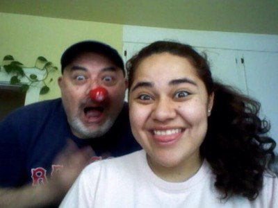 Maria Peniche and her father