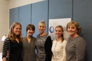 (from left) Ellie Gutowski, Chris Murphy, Cheryl Re, Stacy Garrity and Joan Sham