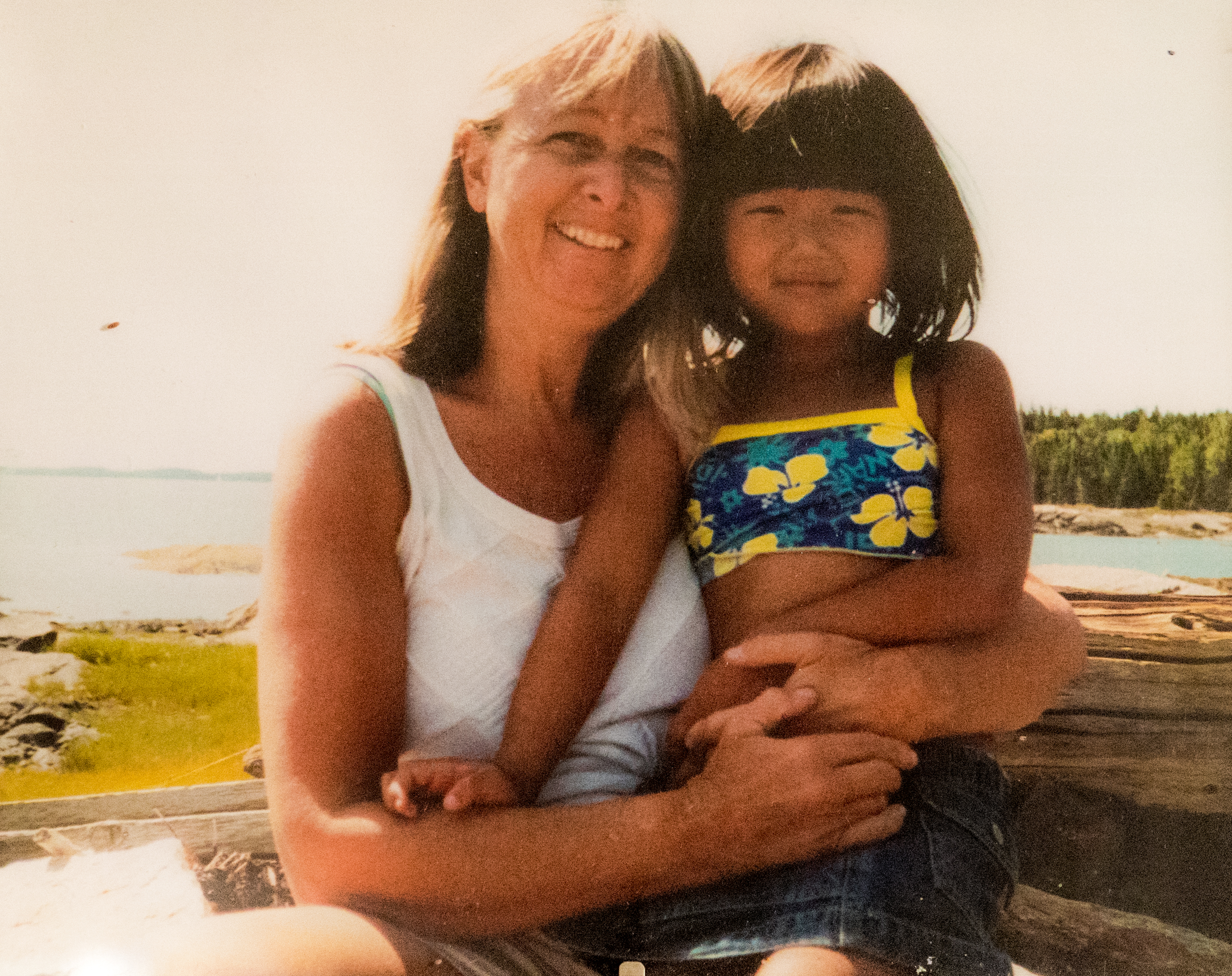 Melissa Ludtke (left) and her adopted daughter Maya Xia Ludtke (right)